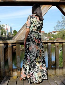 Vestido smoking estampado
