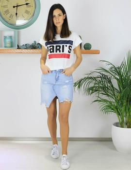 Camiseta blanca paris