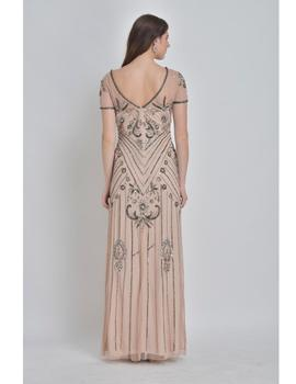 Vestido largo Crazy London nude