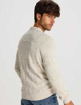 Jersey Six Valves EMBOSSED beige para hombre