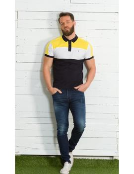 Polo YELLOW SKIN 7824 amarillo tricolor para hombre
