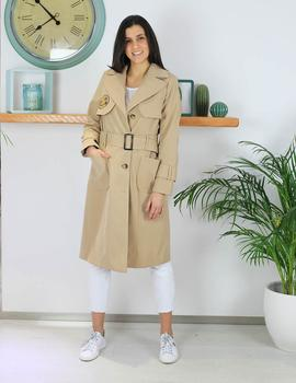 Trench larga camel