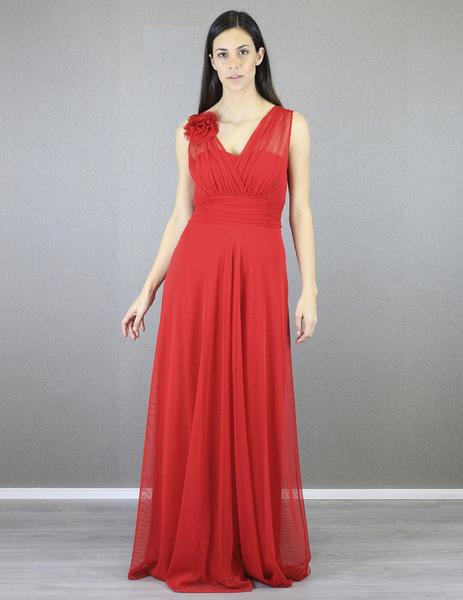 fb30edff2 Vestido dos tirantes flor rojo